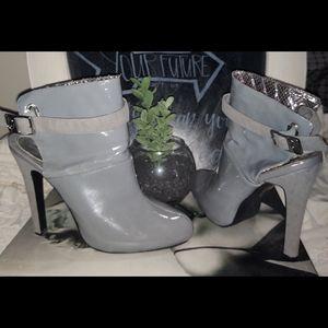 Baby Phat grey high heel shoes